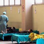 Punct de triaj la un spital din Brescia, din regiunea Lombardia. Foto: Profimedia